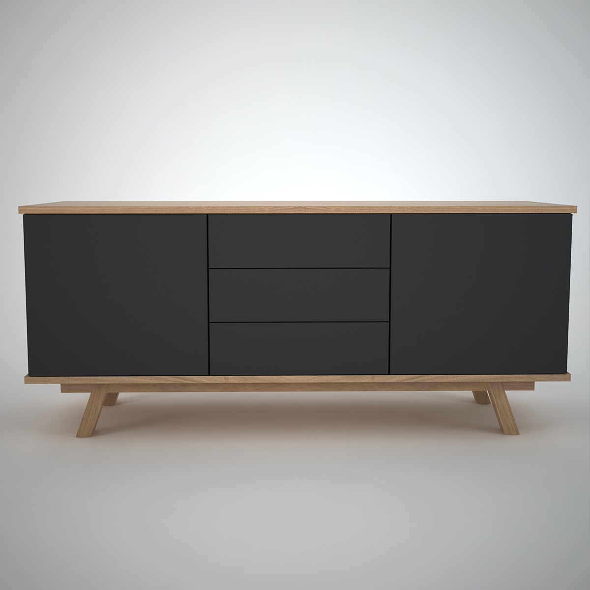 contemporary sideboard in charcoal