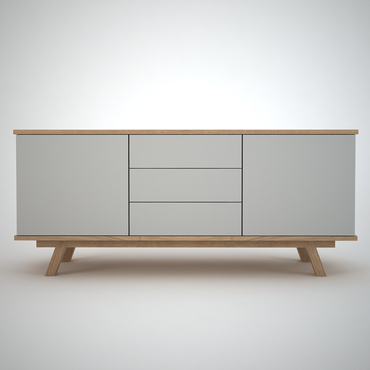 ottawa sideboard 2 3 clay join furniture. Black Bedroom Furniture Sets. Home Design Ideas