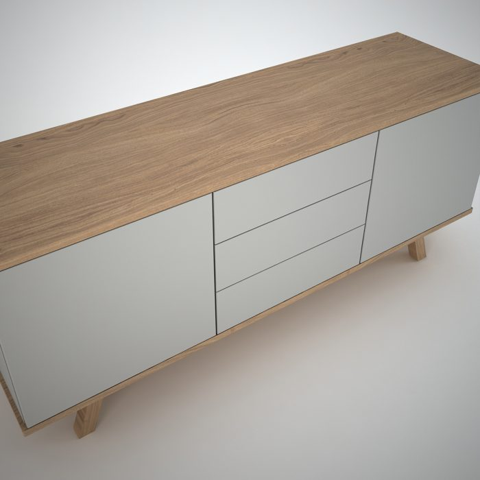 Contemporary sideboard in clay