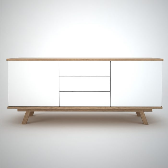Contemporary Sideboard in white and oak