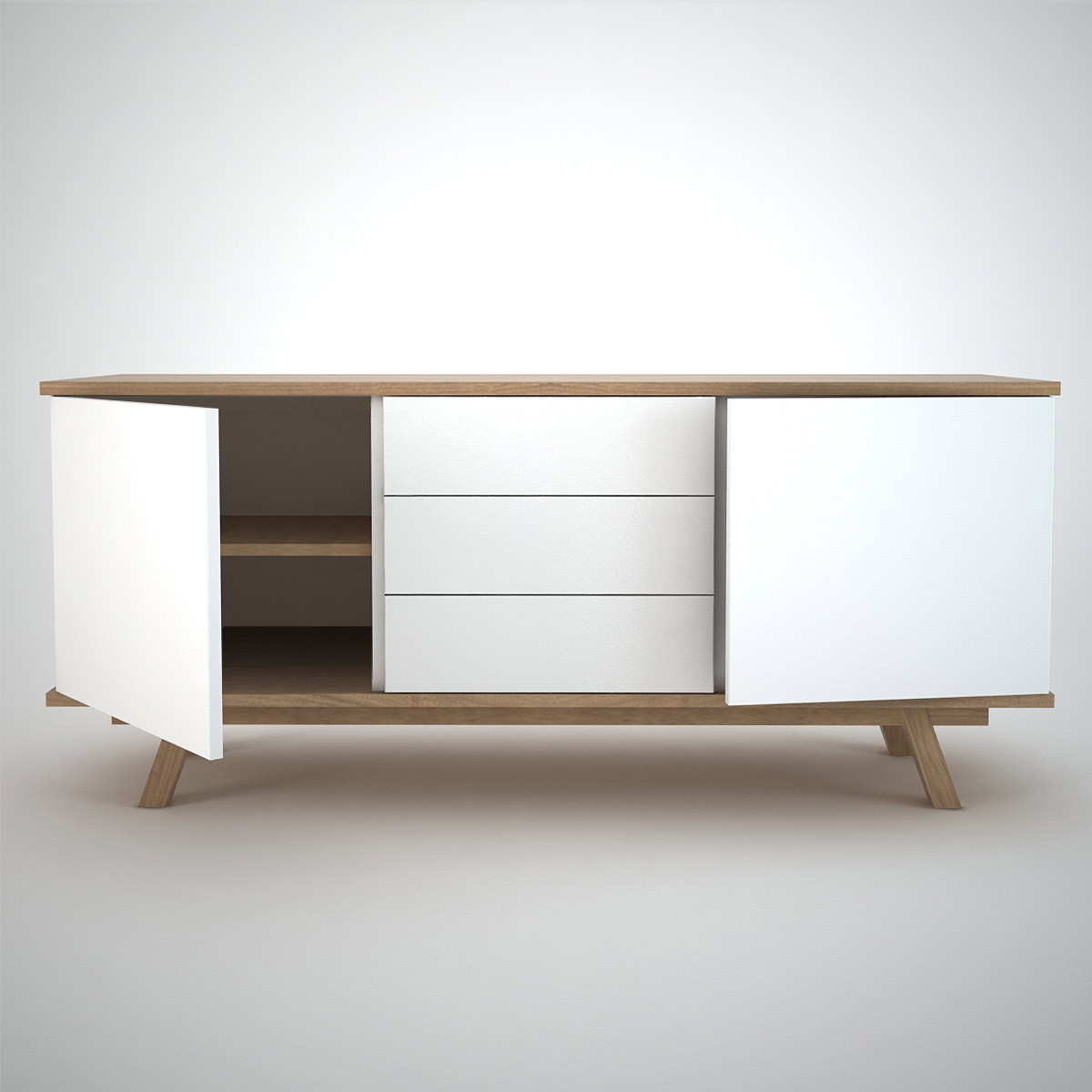 Ottawa Sideboard (2+3) White Join Furniture