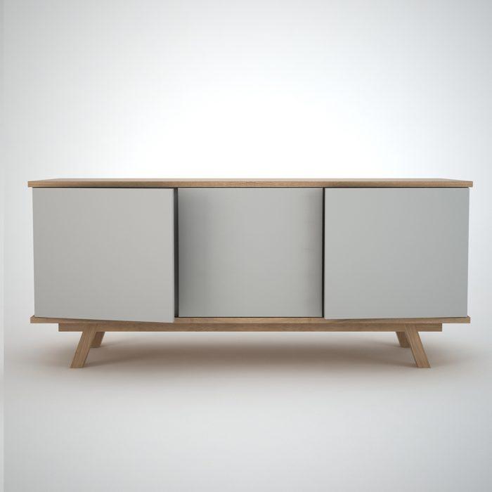 modern sideboard in oak and clay