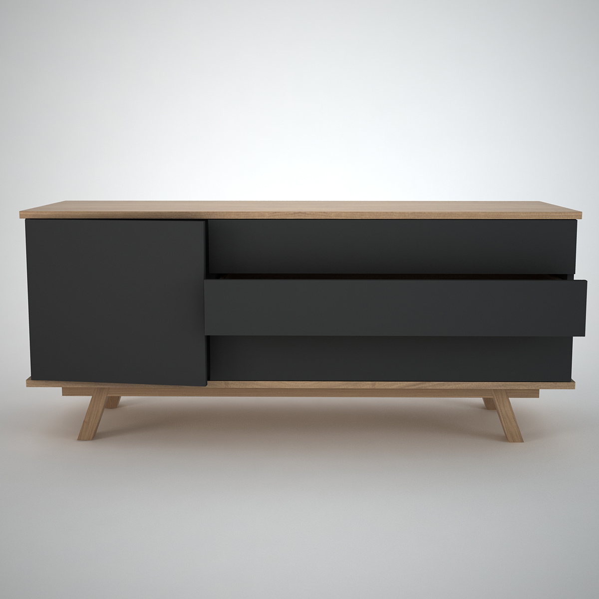 Ottawa sideboard 1 3 anthracite join furniture for Modern contemporary furniture
