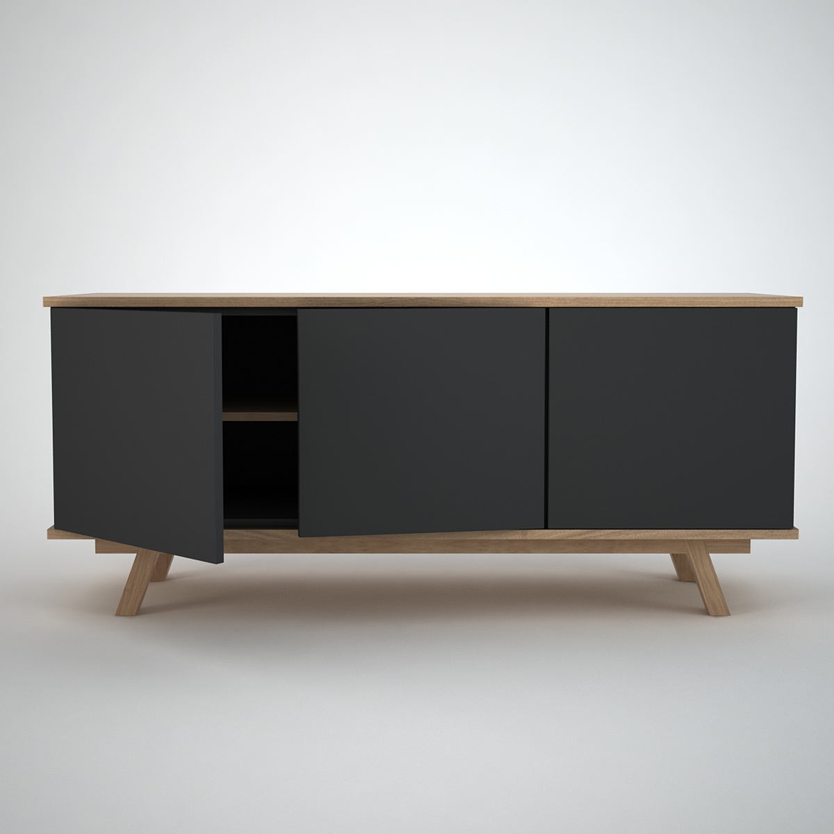 ottawa sideboard 3 anthracite join furniture. Black Bedroom Furniture Sets. Home Design Ideas
