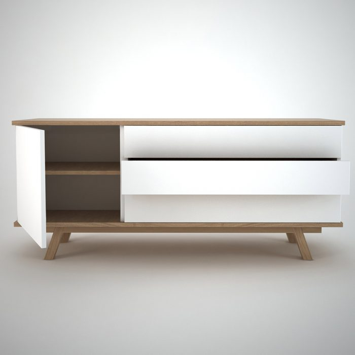 ottawa sideboard 3 white join furniture. Black Bedroom Furniture Sets. Home Design Ideas