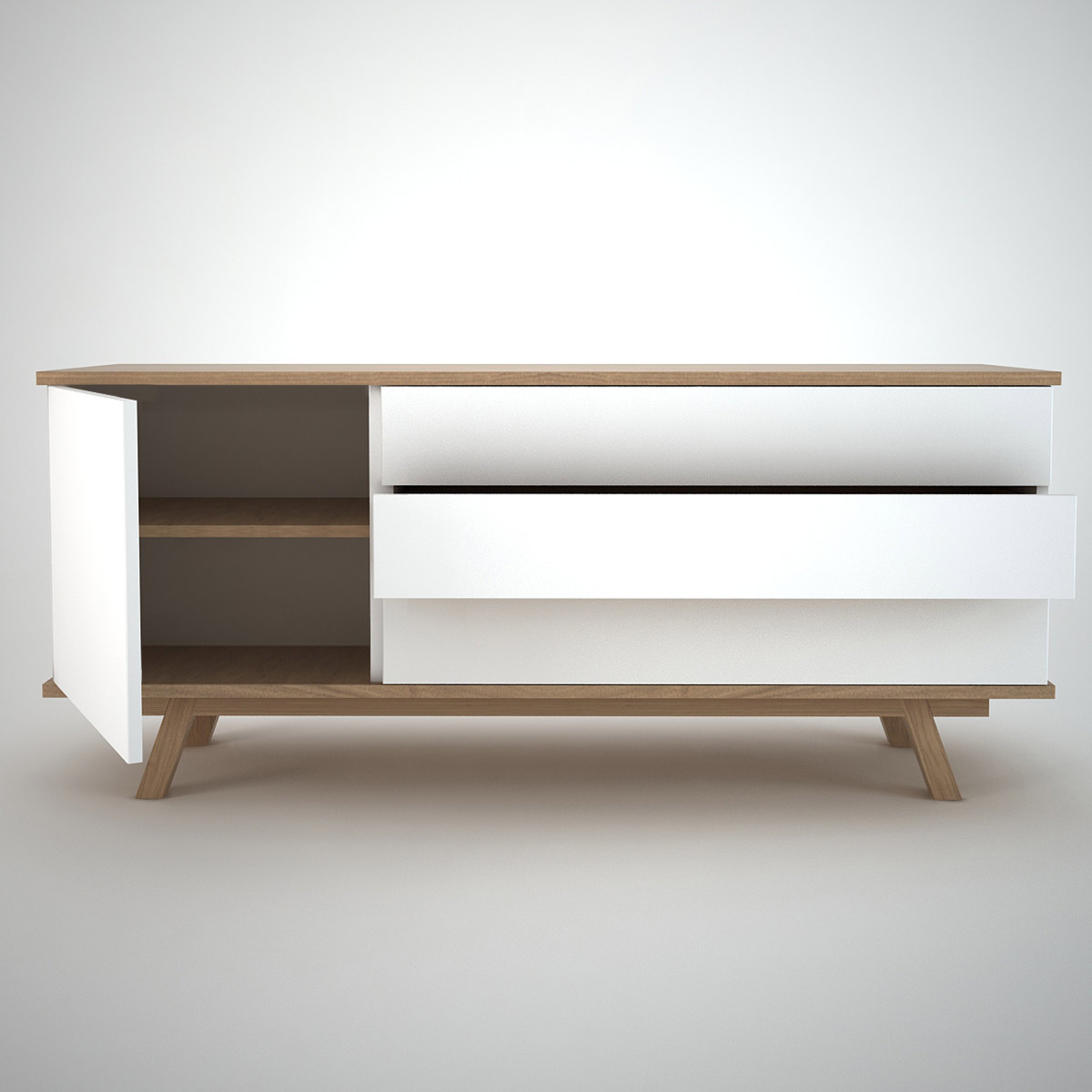ottawa sideboard 1 3 white join furniture. Black Bedroom Furniture Sets. Home Design Ideas