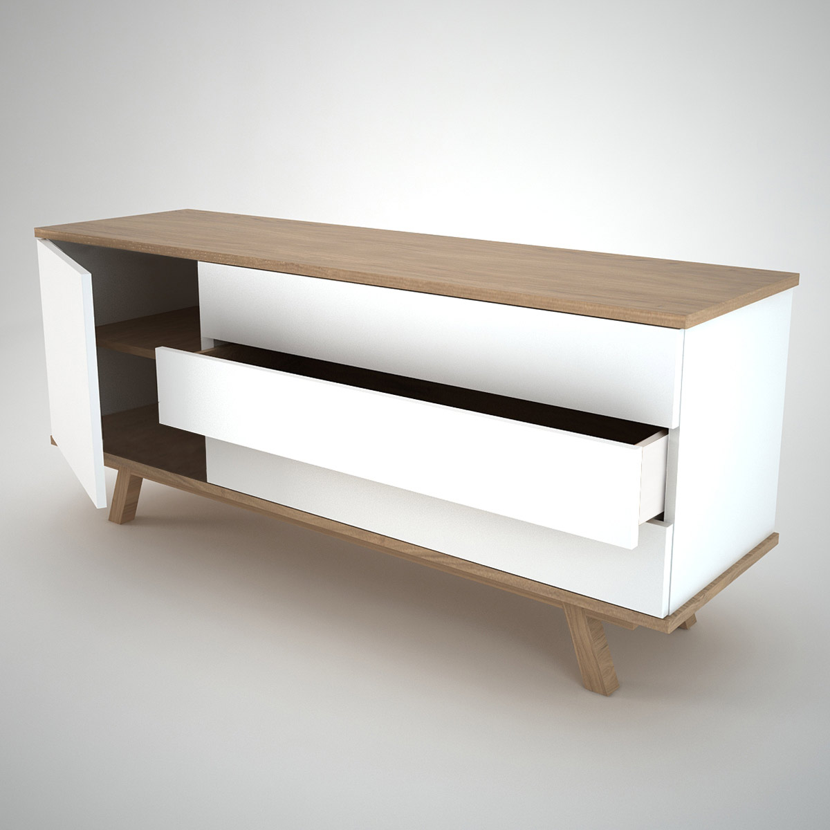 Ottawa sideboard 1 3 white join furniture for Contemporary furniture