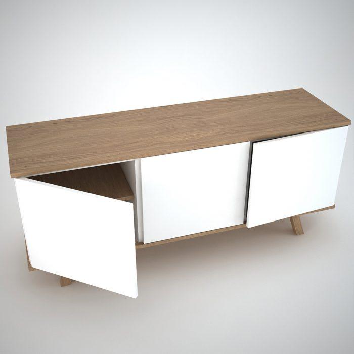 Modern Sideboard in white and oak