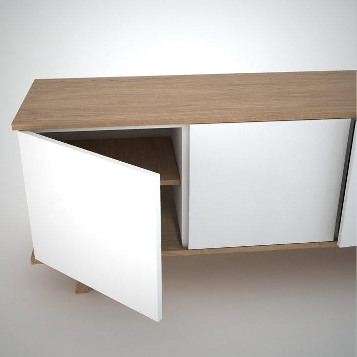 Modern Sideboard in white and oak