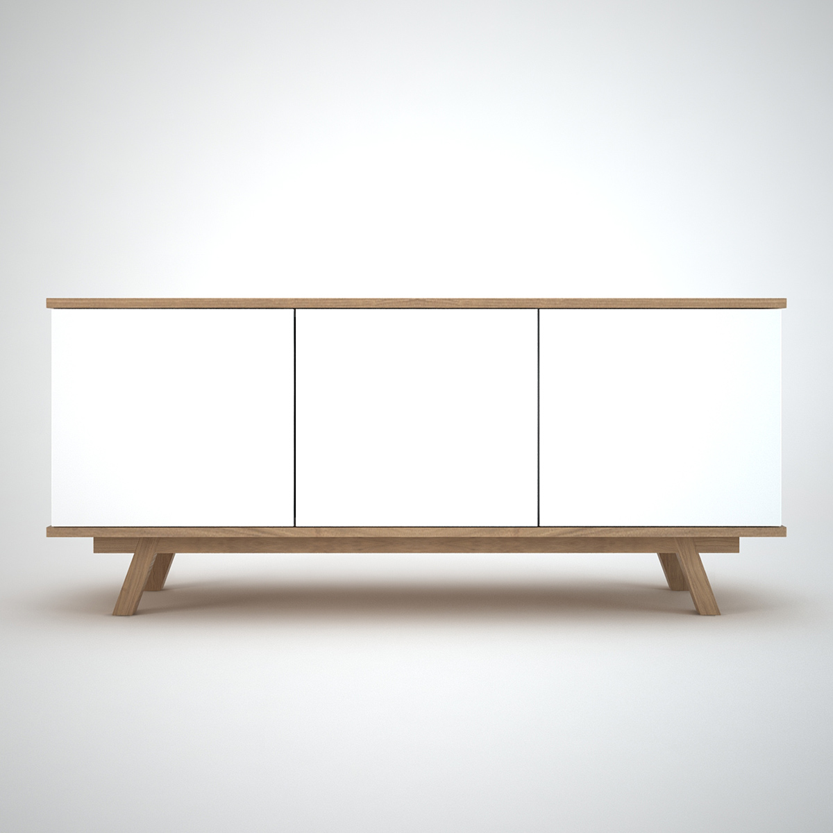 ottawa sideboard () white  join furniture - modern sideboard in white and oak