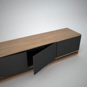 harlem oak low sideboard