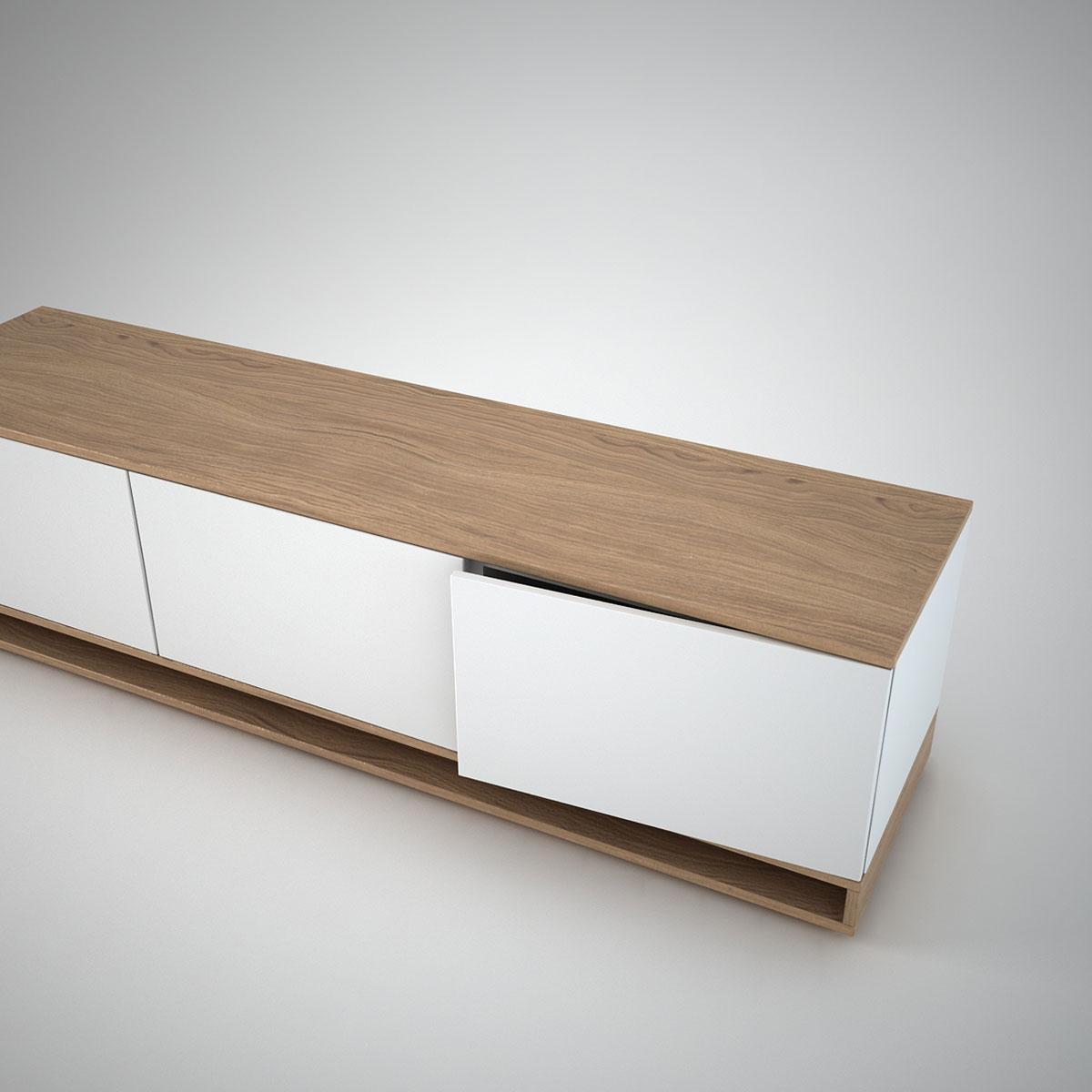 harlem low sideboard 3 white join furniture. Black Bedroom Furniture Sets. Home Design Ideas