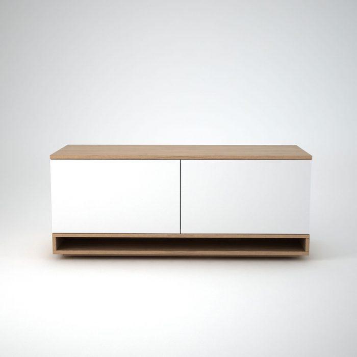 Oak Low white sideboard