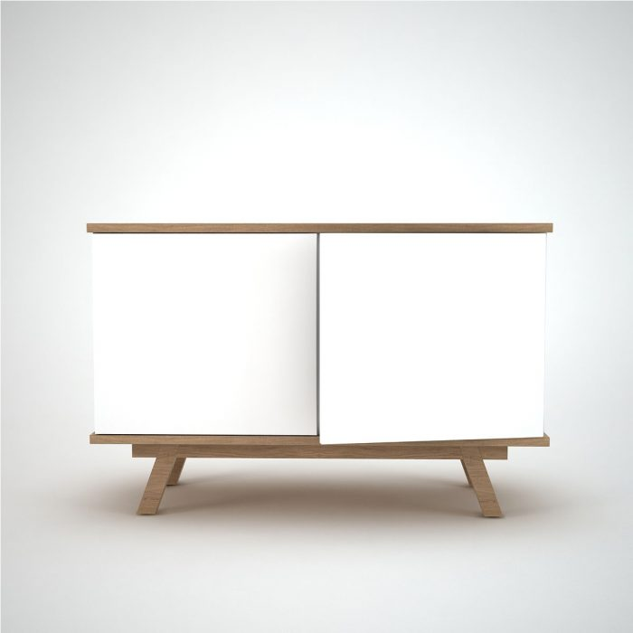 Comtemporary Sideboard white Ottawa Oak