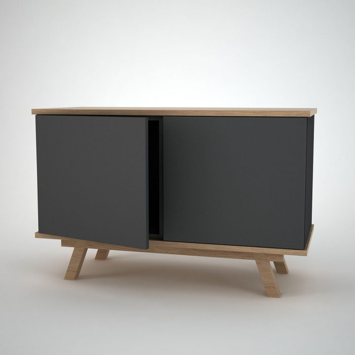 Comtemporary Sideboard anthracite Ottawa Oak